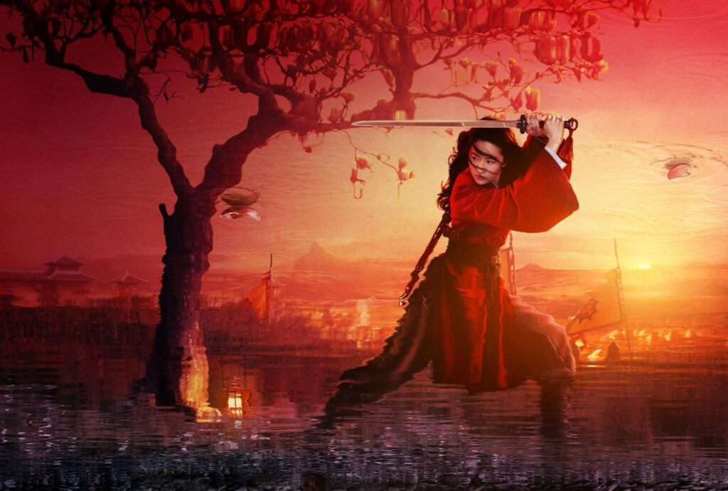 Mulan as Warrior Poster Wallpaper, HD Movies 4K Wallpapers